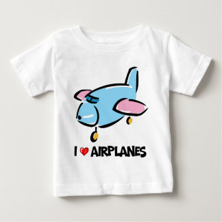I Love Airplanes Baby T-Shirt