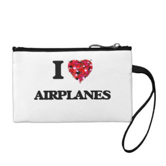 I Love Airplanes Coin Purses