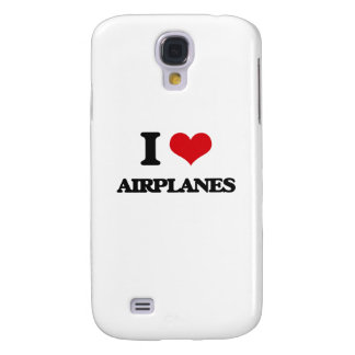I Love Airplanes Samsung Galaxy S4 Cases