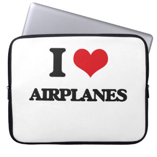 I Love Airplanes Computer Sleeves