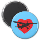 I Love Airplanes Magnet