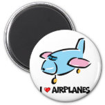 I Love Airplanes Refrigerator Magnets