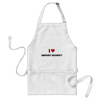 I love Airport Security Apron