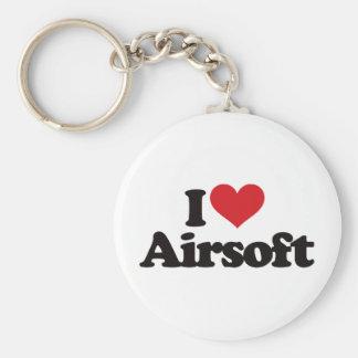 I Love Airsoft Keychain