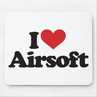 I Love Airsoft Mouse Pad