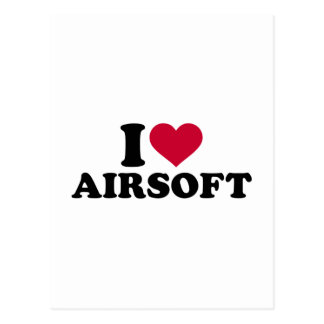 I love Airsoft Postcard