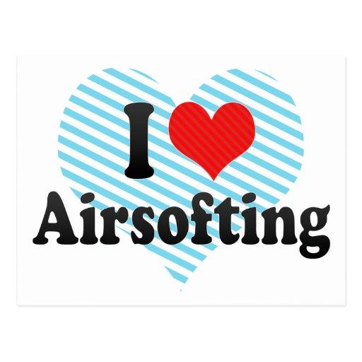 I Love Airsofting Postcard