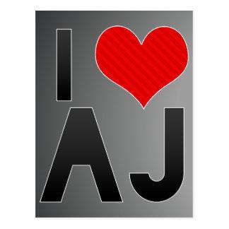I Love AJ Postcard