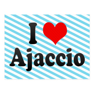 I Love Ajaccio, France Postcard