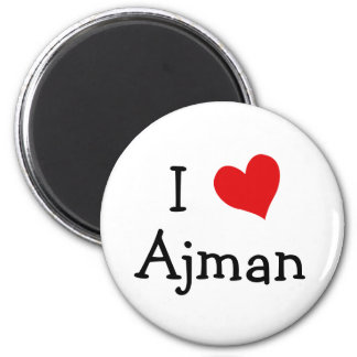 I Love Ajman Refrigerator Magnet