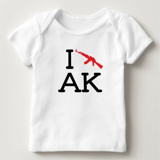 I Love AK - AK47 - Baby Long Sleeve Baby T-Shirt