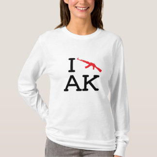 I Love AK - AK47 - Ladies Long Sleeve T-Shirt