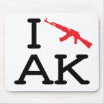 I Love AK - AK47 - Mousepad
