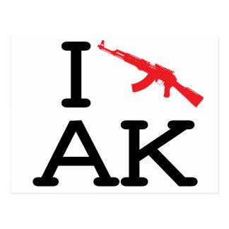 I Love AK - AK47 - Postcard