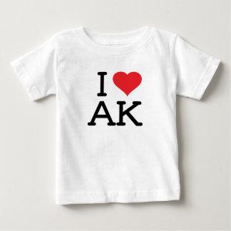 I Love AK - Heart - Baby T Baby T-Shirt