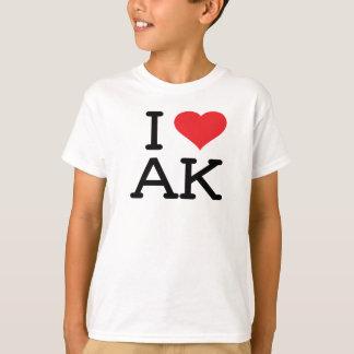 I Love AK - Heart - Kids T T-Shirt