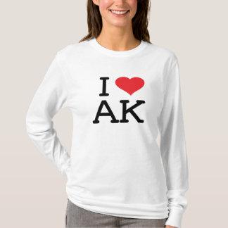 I Love AK - Heart - Ladies Long Sleeve T-Shirt