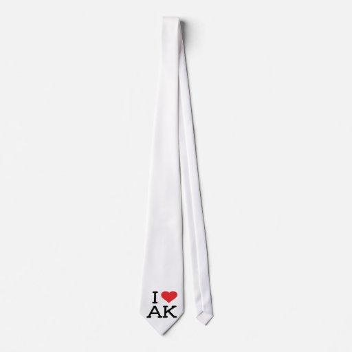 I Love AK - Heart - Tie