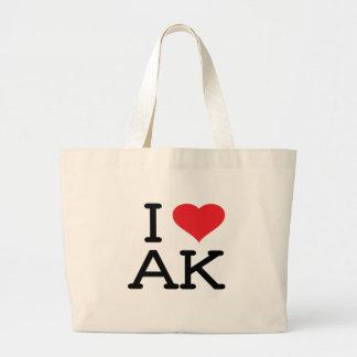 I Love AK - Heart - Tote Bag