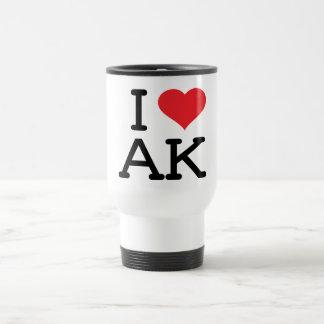 I Love AK - Heart - Travel Mug
