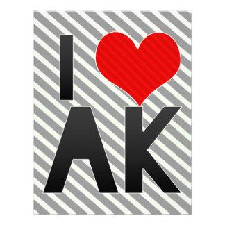I Love AK Personalized Invites