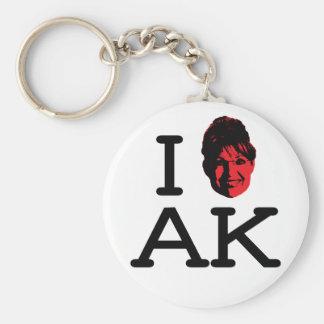 I Love AK - Palin - Keychain