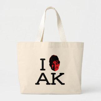 I Love AK - Palin - Tote Jumbo Tote Bag