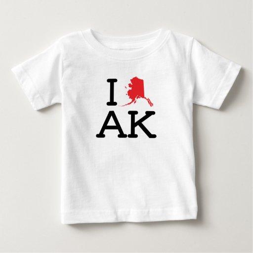 I Love AK - State - Baby T Tshirt