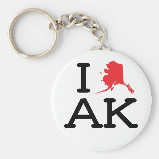 I Love AK - State - Keychain