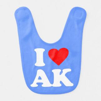 I LOVE AK BABY BIBS
