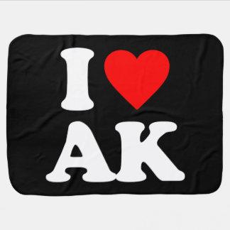 I LOVE AK STROLLER BLANKETS