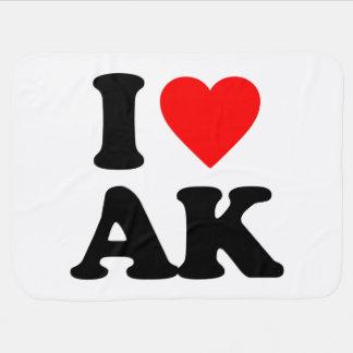 I LOVE AK BABY BLANKETS