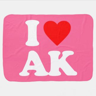 I LOVE AK SWADDLE BLANKETS
