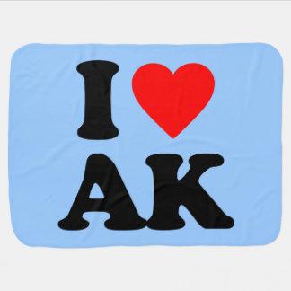 I LOVE AK RECEIVING BLANKETS