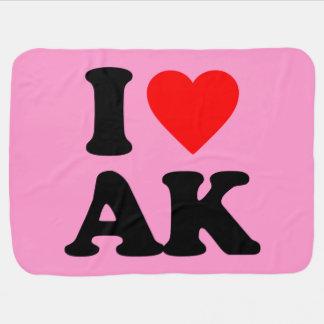 I LOVE AK SWADDLE BLANKET