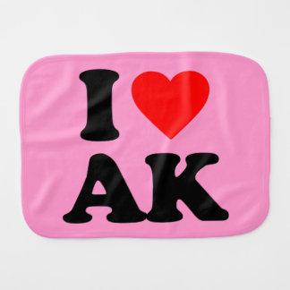 I LOVE AK BURP CLOTHS