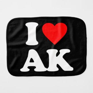 I LOVE AK BURP CLOTH