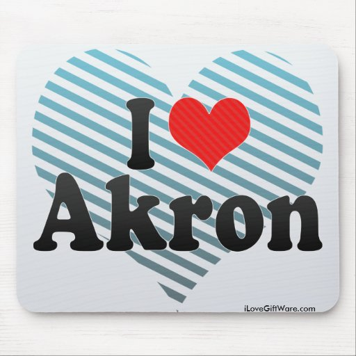 I Love Akron Mousepads