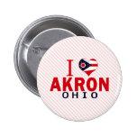 I love Akron, Ohio Pinback Button