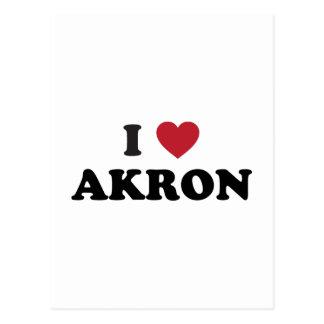 I Love Akron Ohio Postcards