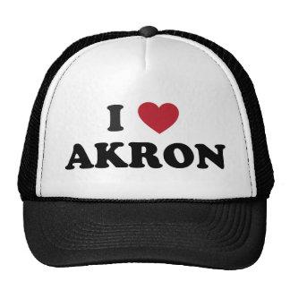 I Love Akron Ohio Trucker Hat