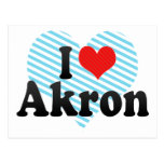I Love Akron Post Card