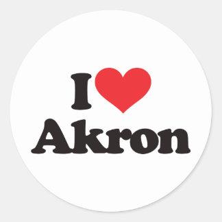 I Love Akron Sticker