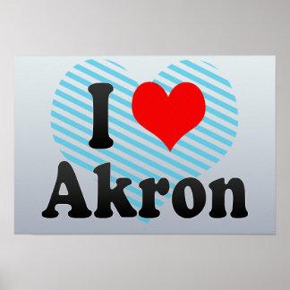 I Love Akron, United States Print