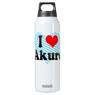 I Love Akure, Nigeria 16 Oz Insulated SIGG Thermos Water Bottle