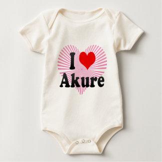 I Love Akure, Nigeria Baby Bodysuits