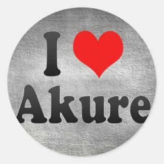 I Love Akure, Nigeria Classic Round Sticker