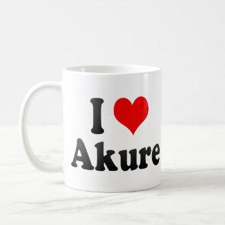 I Love Akure, Nigeria Classic White Coffee Mug