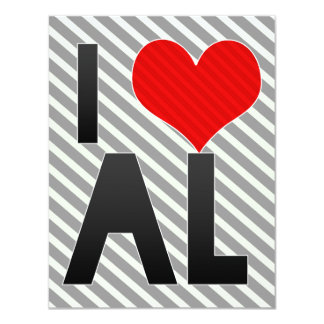 I Love AL 4.25x5.5 Paper Invitation Card