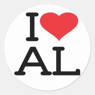 I Love AL 6 pk Stickers